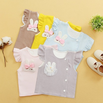 1pc Baby Girl Cotton Avant-garde Rabbit Coat & Jacket