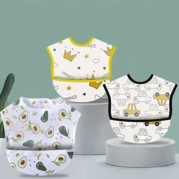 Waterproof Baby Bibs Saliva Towel Cartoon Aprons