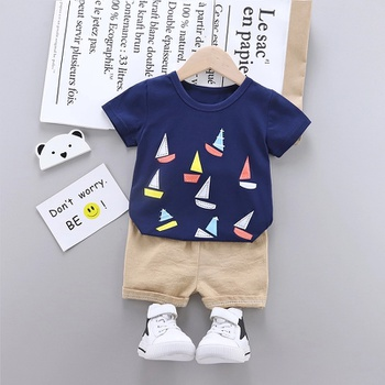 2pcs Baby Boy casual Short-sleeve Cotton Baby's Sets