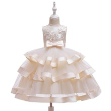 Toddler Girl Bowknot Embroidered Party Dress