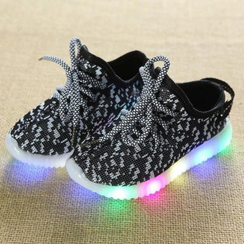 Toddler / Kid Breathable Lace- up LED Sneakers