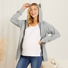 Maternity Plain Grey Coat