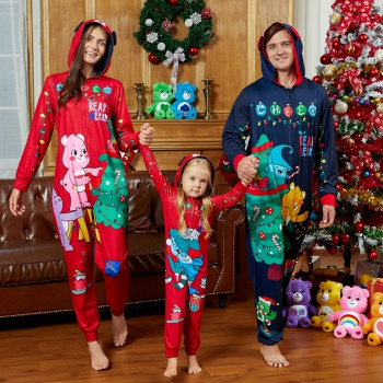 Care Bears Big Graphic Christmas Family Onesie Pajamas(Flame Resistant)