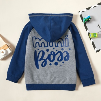 Toddler Boy Retro Letter Coats & Jackets