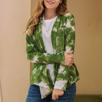 Casual Tie dye medium length Coats