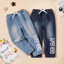 Toddler Boy Casual Letter Jeans