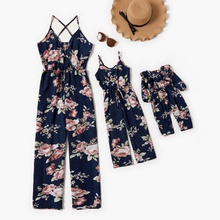 Mommy and Me Floral Print Sling Jumpsuits