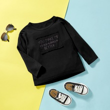 Baby/Toddler Casual Letter Solid Tee