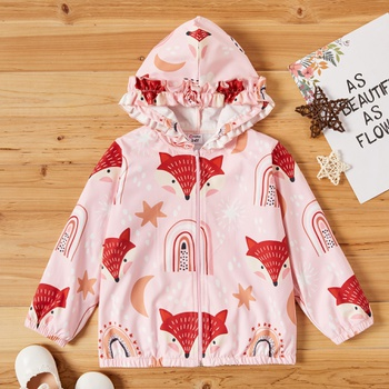 Toddler Girl Sweet Fox Coats & Jackets