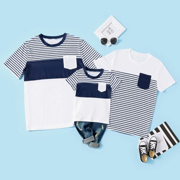 Stripe Series Family Matching Short Sleeve T-shirts