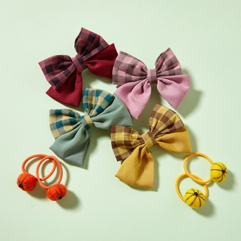2-piece Bowknot Pompon Hairband for Girls