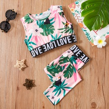 2-piece Baby / Toddler Sporty Tropical Top and Pants Set