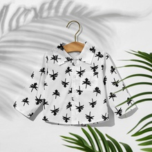 1pc Baby Boy Long-sleeve Cotton Vacation Floral Shirt & Smock