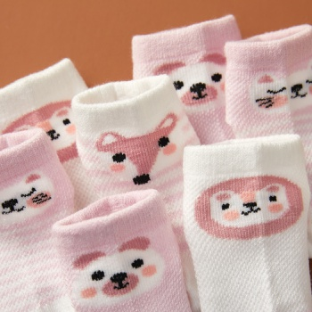 5-pack Baby / Toddler / Kid Animal Solid Socks