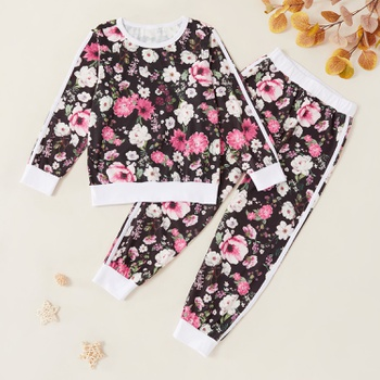 Kids Floral Allover Sweatshirt and Pants Set