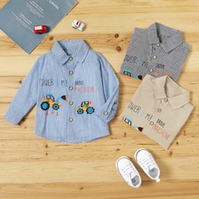 Baby Girl casual Vehicle Shirt & Smock Blouse Fashion Long Sleeve Infant Clothing Outfits