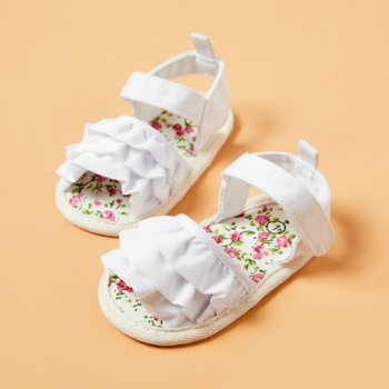 Baby / Toddler Flounced Flower Velcro Closure Sandals