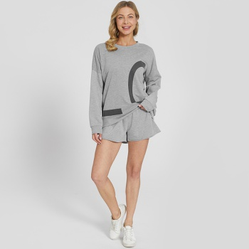 Cozy Letter Long-sleeve Activewear Set