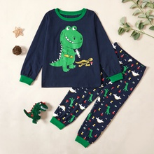 Stylish Dinosaur Print Sweatshirt and Allover Pants Set