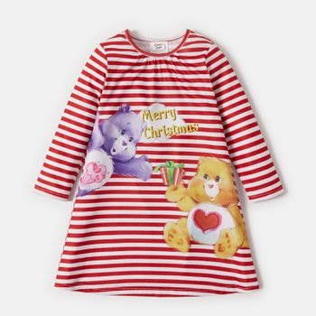 Care Bears Merry Christmas Stripe Girl Dress