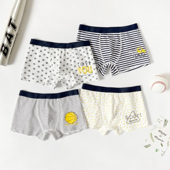 4-Pack Toddler Boy Striped Cotton Knickers