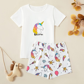 Kids Unicorn Tee and Shorts Set