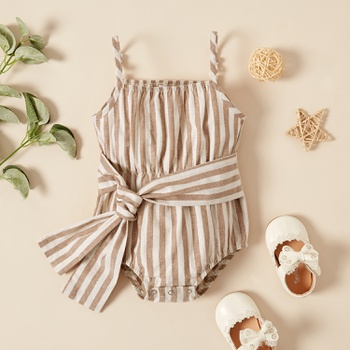 1pc Baby girl casual Stripes Rompers & Bodysuits