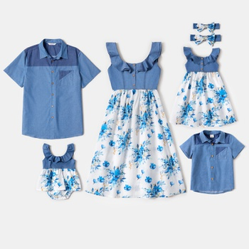 Mosaic Family Matching Denim Series Sets