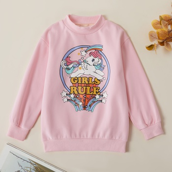 Fashionable Unicorn Print Sweatshirt