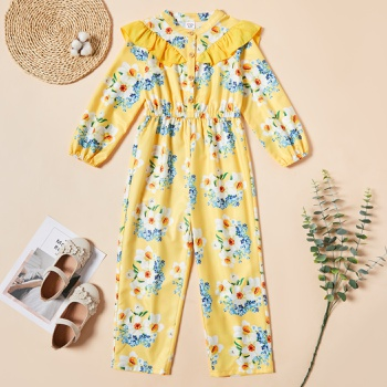 Kid Girl Floral Jumpsuit