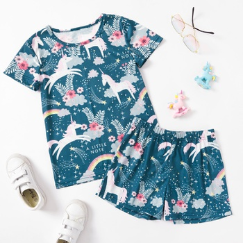 Pretty Kid Girl Unicorn & Rainbow  Set