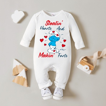 Smurfs Mommy's Sweetheart Baby Boy/Girl 100% Cotton Jumpsuit