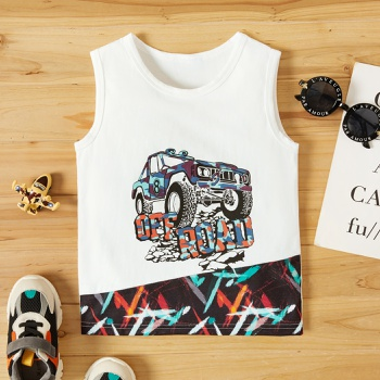 Toddler Boy Car Print Chic Camisole