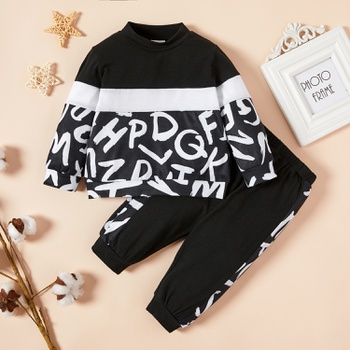 Baby Unisex Sports Letter Print Sets