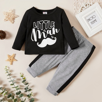 2-piece Letter Print Set for Baby