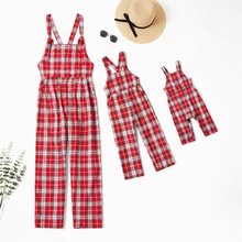 Mommy and Me Plaid Tank Jumpsuits