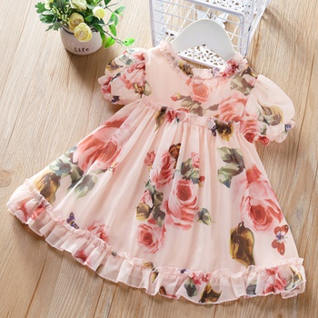 Baby Sleeveless Floral Dresses