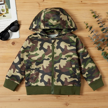 Baby / Toddler Boy Camouflage Hooded Jacket
