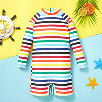 Toddler Colorful Striped One piece Swimsuit