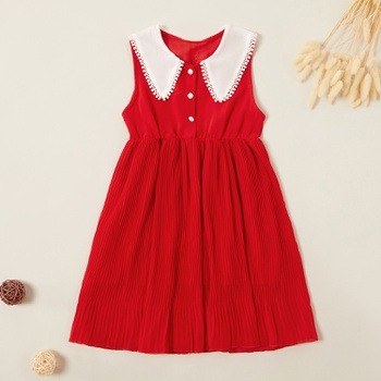 Beautiful Doll Collar Sleeveless Dress