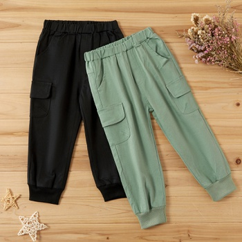 Baby / Toddler Pocket Solid Casual Pants
