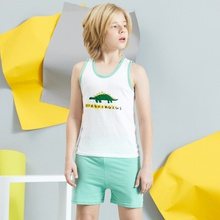 Kids Unisex Cartoon Vest and Shorts Set