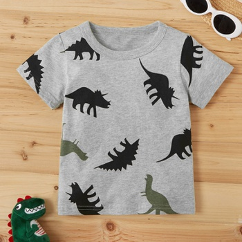 Baby / Toddler Cartoon Dinosaur Print Tee
