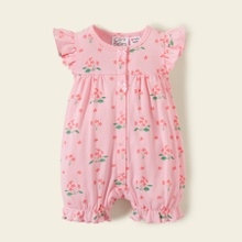 Care Bears Baby Girl 100% Cotton Floral Flounced One Piece