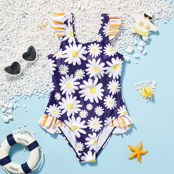 Beautiful Kid Girl Daisy Floral Swimwear