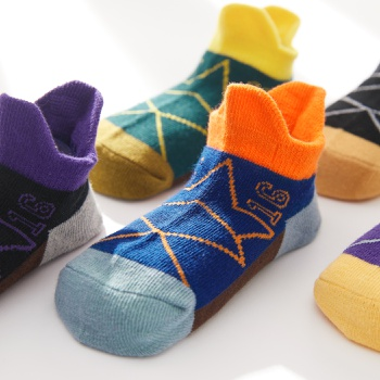 5-pack Toddler / Kid Colorblock Knitted Socks