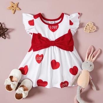 Baby Girl Heart-shaped Sweet Dress