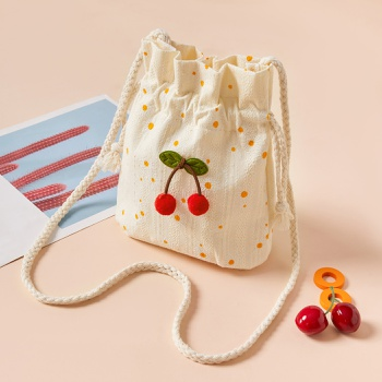 Pretty Embroidery Cherry Bag for Girls