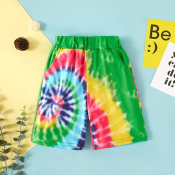 Toddler Colorful Dyed Shorts