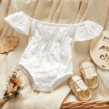 Baby Flutter-sleeve Lace Vacation Rompers & Bodysuits